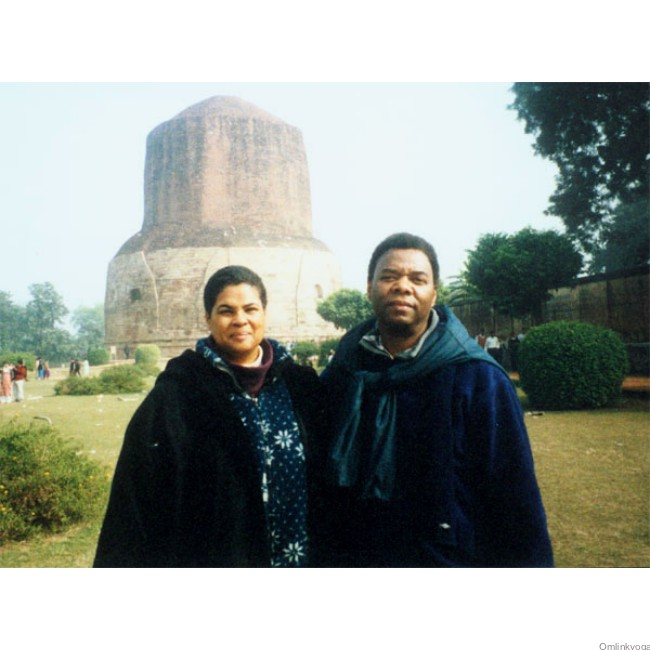 Julie and husband Randy Williams at Sarnath, India (1999)