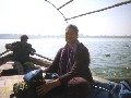 Julie, on the Sangam river, Allahbad, India (2003)